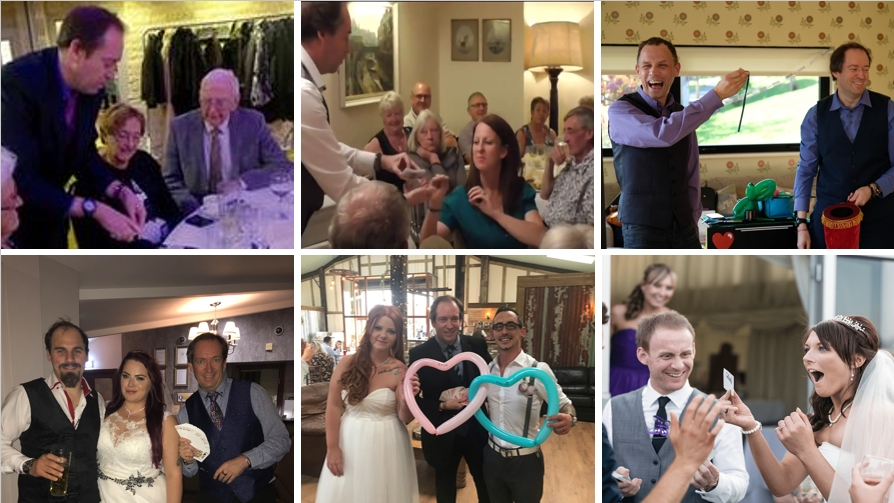 Yorkshire wedding magician